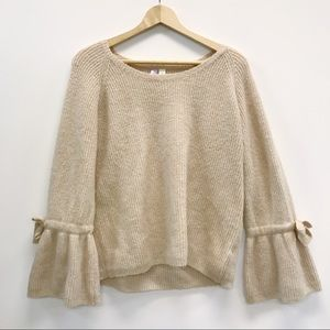 Francesca's Alya Sweater With Bell Sleeves
